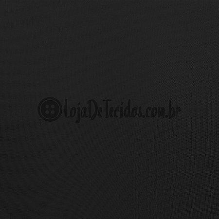 Voil Transparente Preto 3m de Largura