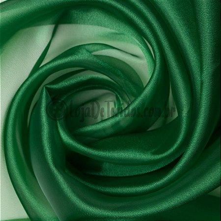 Organza Cristal Verde 1,50m de Largura