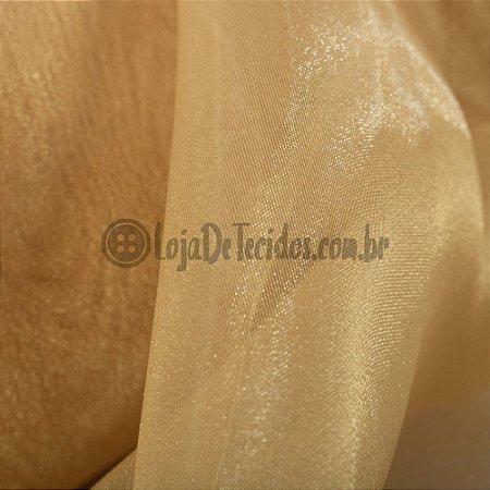 Organza Cristal Dourado 1,50m de Largura