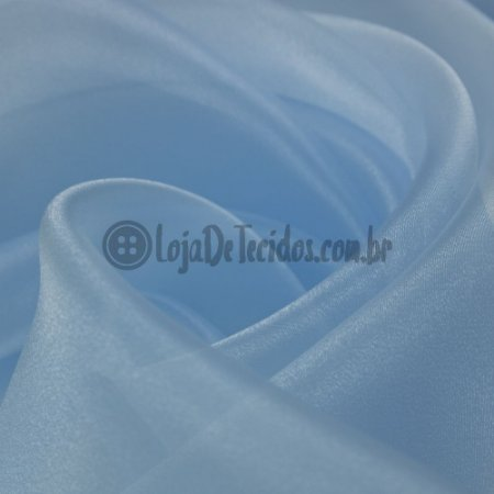 Organza Cristal Azul Bebê 1,50m de Largura