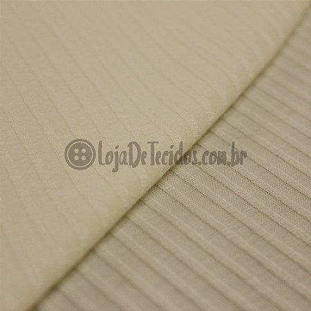 Malha de Viscose Canelada Off-White 1,30 de Largura