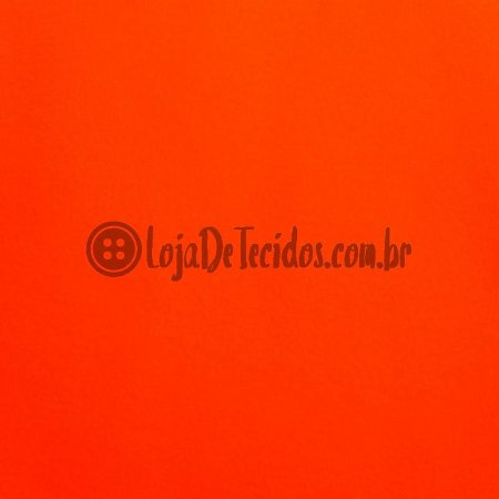 Tactel Liso Laranja Fluorescente 1,60m de Largura