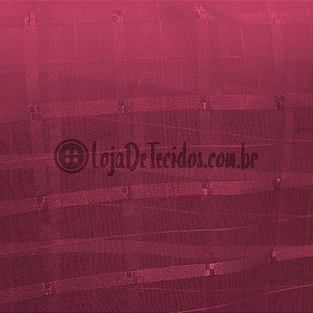 Voil Trabalhado Transparente Pink 3m de Largura