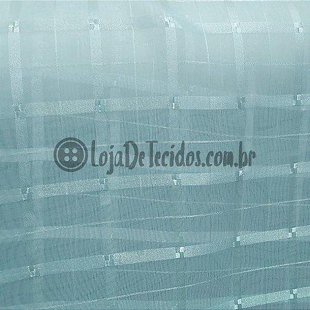 Voil Trabalhado Transparente Azul Bebê 3m de Largura