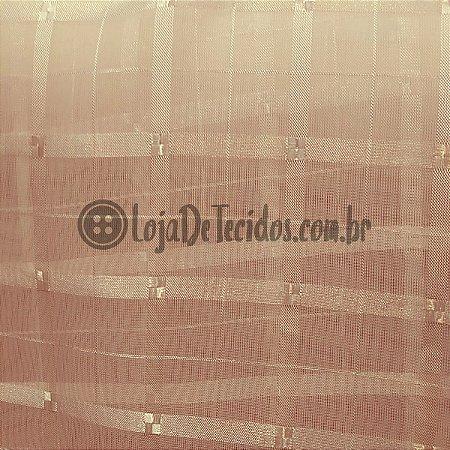 Voil Trabalhado Transparente Rosa Claro 3m de Largura