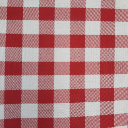 Oxford Xadrez Vermelho e Branco 0,9cm x 1cm 1,50mt de Largura