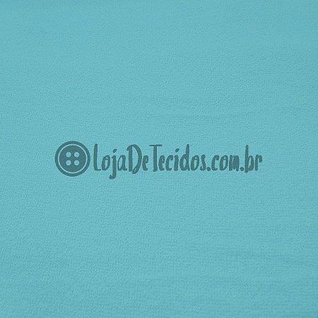 Atoalhado 100% Algodão Liso Azul Turquesa 1,40mt de Largura