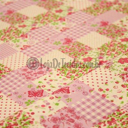 Tricoline Estampado Floral Colorido