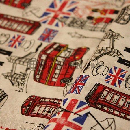Tricoline Estampado Londres