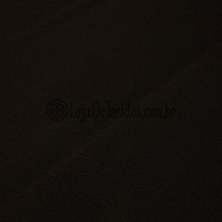Tricoline Liso Preto 1,50m de Largura