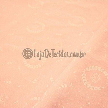 Tricoline Estampado Rosa Claro