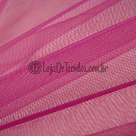 Tule Ilusion Liso Pink 1,50m de Largura