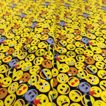 Tricoline Estampado Desenho Emojis