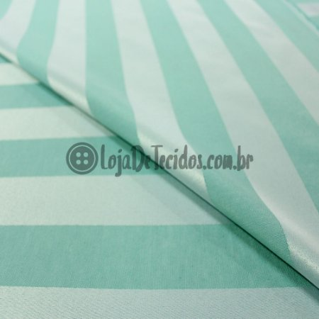 Jacquard Listrado Verde Tiffany 2,80mt de Largura