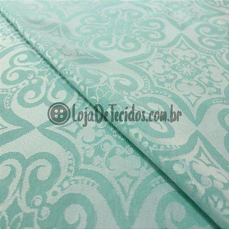 Jacquard Arabesco Verde Tiffany 2,80mt de Largura