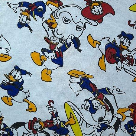 Malha 100% Algodão Cardada Tema Pato Donald