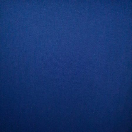 Malha 100% Algodão Cardada Liso Azul Royal Tubular 1,20mt