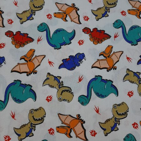 Tricoline Estampado Dragões e Dinoussauros