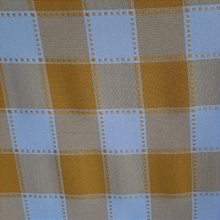 Oxford Xadrez Maquinetado Amarelo e Branco 5cm x 5cm 1,50mt de Largura