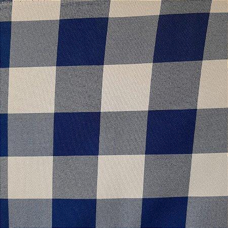 Oxford Xadrez Azul Royal e Branco 5cm x 5cm 1,50mt de Largura