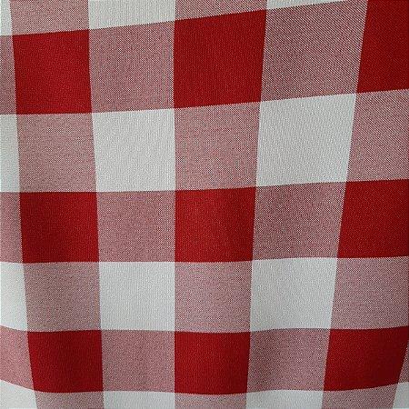 Oxford Xadrez Vermelho e Branco 5cm x 5cm 1,50mt de Largura