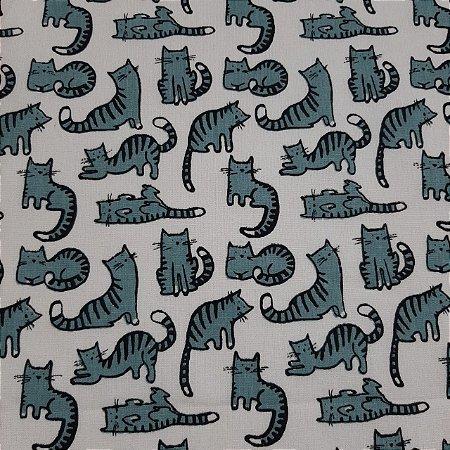 Tricoline Estampado Gatos