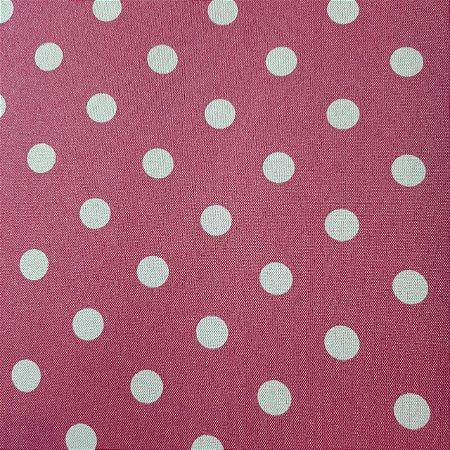 Oxford Estampado Poá Fundo Pink 1,50mt de Largura