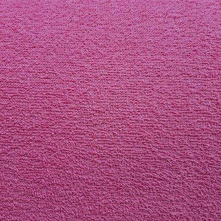 Atoalhado 100% Algodão Liso Pink 1,40mt de Largura