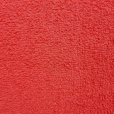 Atoalhado 100% Algodão Liso Vermelho 1,40mt de Largura
