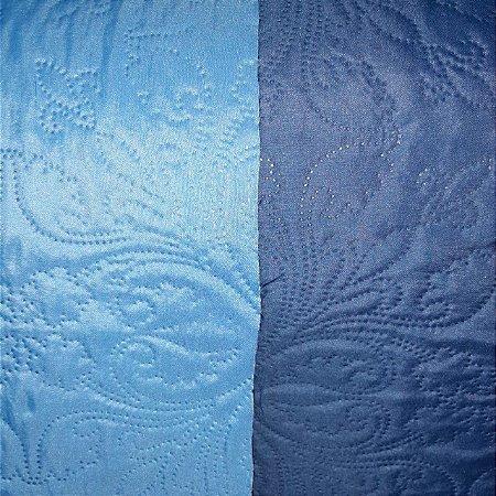 Tecido Matelado Liso Azul Claro/Azul Marinho 2,40mt de Largura