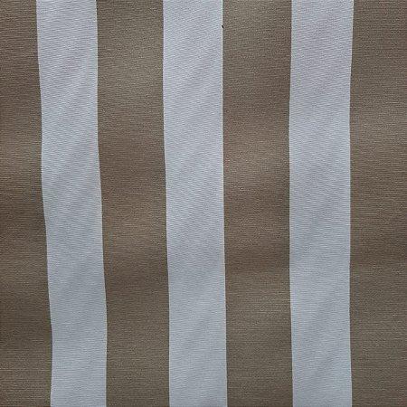 Tecido Verona Listrado Bege/Branco 1,40mt de largura
