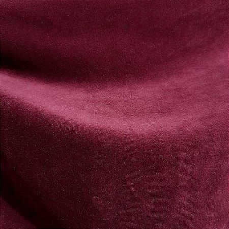 Malha Plush Vermelho Marsala 1,60mt de Largura