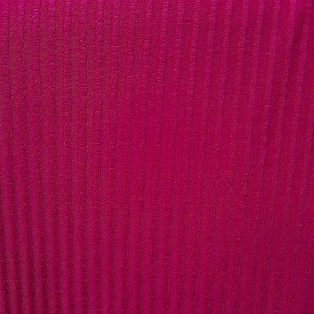 Malha de Viscose Canelada Pink 1,30mt de Largura