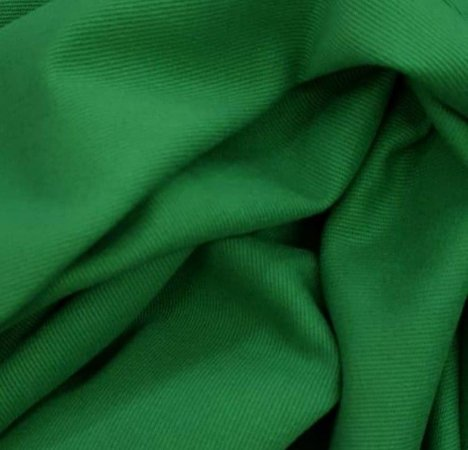 Tecido Brim Pesado Verde Bandeira 1,60mt de Largura