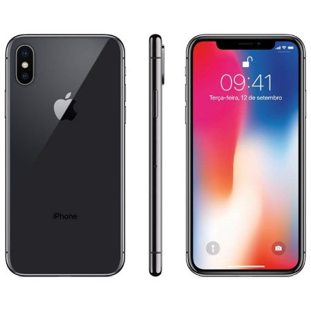 iPhone X Apple Cinza Espacial, 64GB Desbloqueado - MQAC2BZ/A