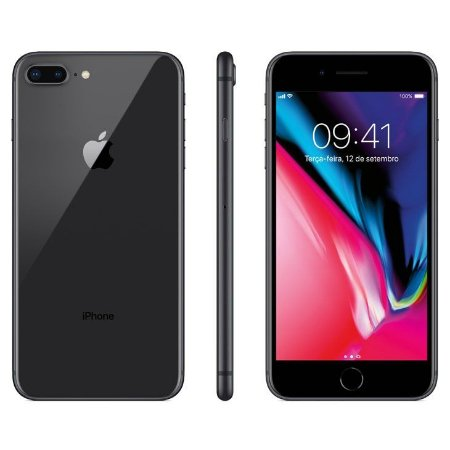 iPhone 8 Plus Apple Cinza Espacial, 64GB Desbloqueado - MQ8L2BZ/A