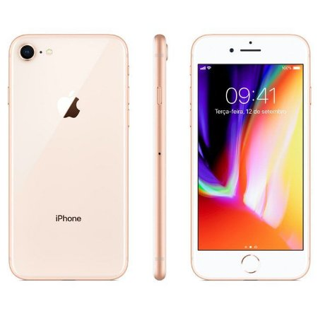 iPhone 8 Apple Dourado, 256GB Desbloqueado - MQ7E2BZ/A