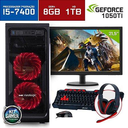 "Computador Gamer Neologic NLI68705 Intel Core i5-7400 8GB (Gtx 1050Ti 4GB) 1TB + Monitor 21,5"""