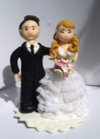 Casal de noivos para topo de bolo (PRODUTO SOB ENCOMENDA)