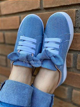 Tênis Jeans Cadarço Laço