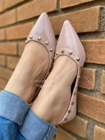 Sapatilha Valentino Rosê Verniz