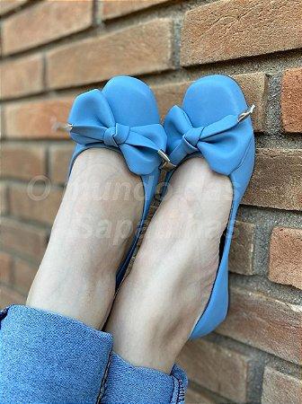 Sapatilha Quadrada Azul Pingente