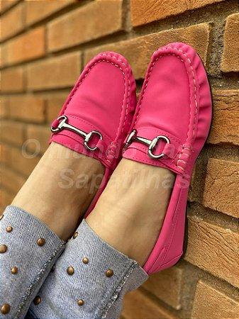 Mocassim Fuf Pink Fivela