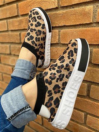Tênis Meia Shoes Onça