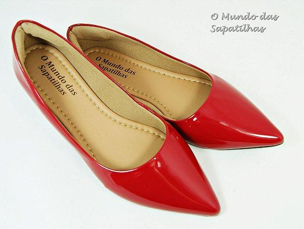 Sapatilha Vermelha Verniz Lisa