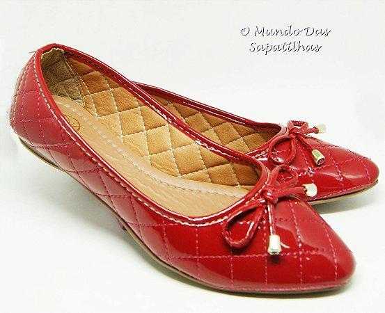 Sapatilha Matelassê Vermelha