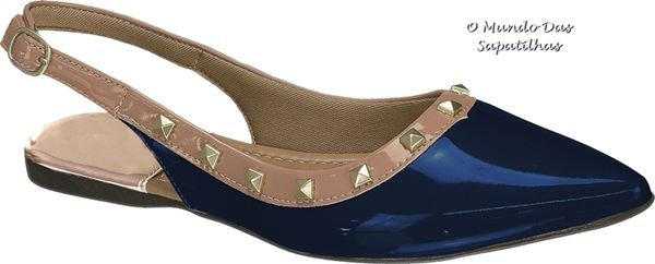 Mule Valentino Marinho Azul Boreal