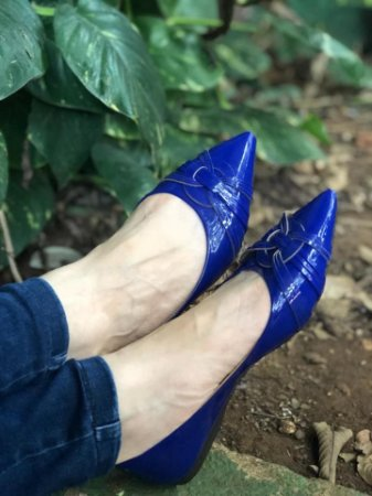 Sapatilha Azul Bic verniz