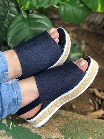 Sandália Confort Faixa jeans