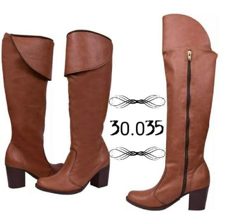 Bota Over Knee Caramelo